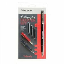 William Mitchell Calligraphy Starter Set - Cartridge Pen, 3 Nibs, Cartridges