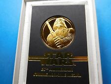 STAR WARS DISNEY DARTH VADER 20TH ANNIVERSARY 1997 SILVER GOLD COIN RARE COA #2