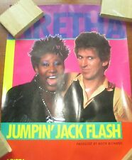 Keith Richards Rolling Stones Jumping Jack Flash Promo Poster 1986