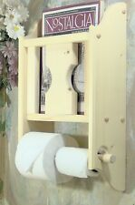 Unfinished Toilet paper holder magazine literature rack. JLJ Original Design