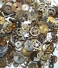 10g Pieces Lot Vintage Steampunk Wrist Watch Old Parts Gears Wheels Steam Punk