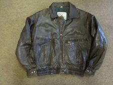 VTG OUTBACK TYPE A-2 FLIGHT COOPER MOTORCYCLE LEATHER JACKET SZ M MEN 90S BOMBER