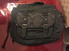 NEW AERO Covertible Messenger Bag OR Backpack- Crochet Trim