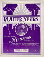 In After Years, Weser Bros. Factory Scene on Back, 1904, vintage sheet music