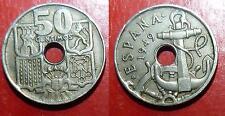 50 centimos 1949 ESPAGNE ESPANA SPAIN * 53 1953
