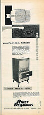 PUBLICITE ADVERTISING 114  1957  RIBET-DESJARDINS  console radio-phono-tv