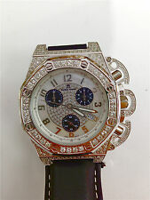 Techno Mania Stainless Steel Chronograph with Diamonds Swiss Movement