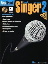 Fast Track Lead Singer Learn to Play Voice Vocals Audition Sing Music Book 2 &CD