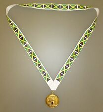 Jamaica Winners Medal - Gold Metal Medal With Jamaican Flag Lanyard (MI3)