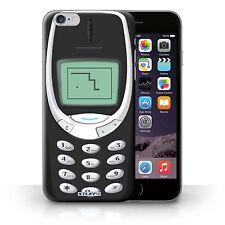 STUFF4 Case/Cover for Apple iPhone 6S+/Plus/Retro Phones/Black Nokia 3310