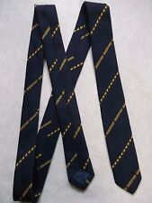 SKINNY SHEEP DIP TIE CLUB ASSOCIATION 1970s 1980s RETRO FARMING FARMER NAVY GOLD