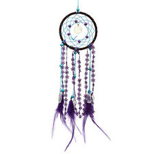 Lovely Dream Catcher Purple Feather Circular Wall Hanging Car Home Decor Gift