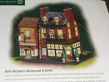 Dept 56 Katie McCabe's Restaurant & Books #56.59208 CHRISTMAS IN THE CITY