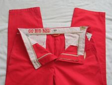 NWT MENS GAME DAY DOCKERS NEBRASKA HUSKERS RED FOOTBALL 38 X 32 PANTS GO BIG RED