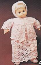 """BABY DOLL LAYETTE for 48cm / 19"""" 3ply - vintage doll crochet pattern"""