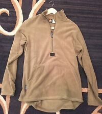 Coyote Tan Pullover USMC Marine Fleece Jacket Polartech 1/4 Zipper Khaki Large