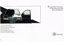 PUBLICITE ADVERTISING 1990 MERCEDES BENZ 190E 1.8 injection (2 pages)