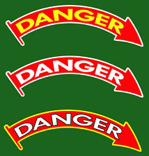 Tach Danger Sticker for Military M35A2 M54 M923 M925 M936 Diesel Tachometer New