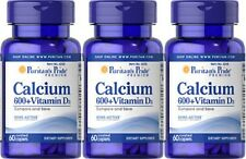CALCIUM CARBONATE 600mg + VITAMIN D 250 IU DIETARY SUPPLEMENT 180 COATED CAPLETS