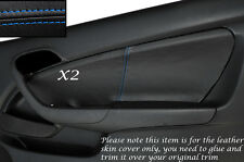 BLUE STITCH 2X DOOR CARD SKIN COVERS FITS HONDA INTEGRA DC5 ACURA RSX 02-06
