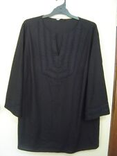 Quality Sue NEW!! VERY SMART EMBROIDERED LINEN BLEND 3/4/sl TOP Plus size 22