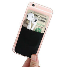 Adhesive iPhone Card Holder, Universal Card Wallet Stick on Any Phone & Case