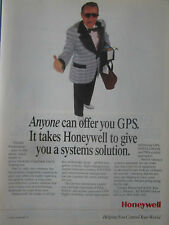 12/1993 PUB HONEYWELL GPS GLOBAL POSITIONNING SATCOM NASA FAA ORIGINAL AD