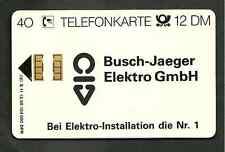 Telefonkarte S 20 ( S 11 ) xx 40 Einheiten voll Tk BUSCH-JÄGER  !!!!