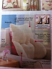FAUX SHEEPSKIN BACK SUPPORT CUSHION SOFT COSY NEW back support pillow