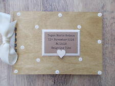 PERSONALISED NEWBORN BABY WOODEN SCRAPBOOK/PHOTO BOOK /MEMORIES