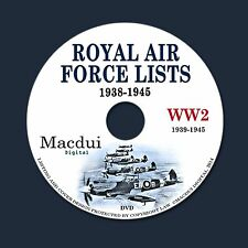 Royal Air Force Lists 1938-1945 – Vintage e-Books Collection 57 PDF on DVD WW2
