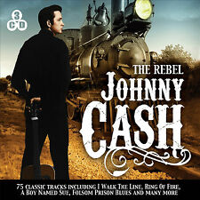Johnny Cash - The Rebel - 75 Classic Hits - 3 CD BOXSET - BRAND NEW SEALED