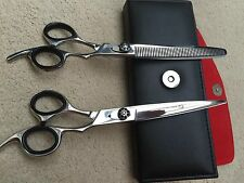 "Professional PET Grooming Scissor And Thinning Set 8.5"" Razor  Sharp .£14.99"