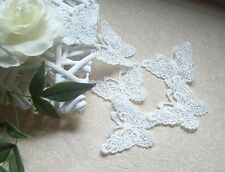 8 x Beautiful White Vintage Large Lace Butterfly Wedding Applique Crochet