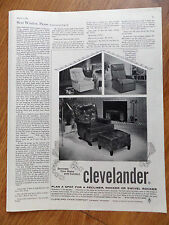 1960 Clevelander Cleveland Chair Ad  Recliner Rocker Swivel Rocker
