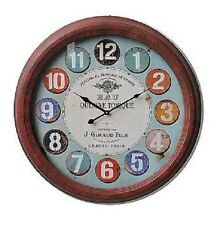 """Extra Large Glass Front Retro Shabby Chic Wall Clock 62cm Diameter (24"""" +) 7930"""