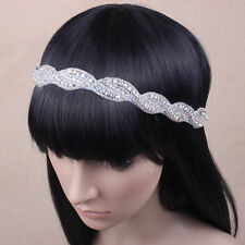 Crystal Bride Wedding Headband Bride Rhinestone Hairband UK Seller