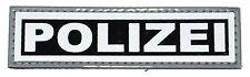 Brustschild Polizei Klett 11 x 3cm negativ schwarz
