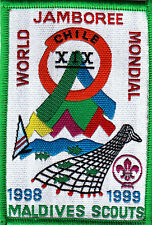 Boy Scout Badge 19 WORLD JAMBOREE CHILE 1999 MALDIVES Cont