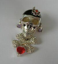 Charm Anhänger Pirat Totenkopf Skull 925 Silber signiert Thomas Sabo