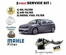 FOR OPEL VAUXHALL ASTRA H 1.9 CDTi DIESEL 2004-  OIL AIR FUEL FILTER SERVICE KIT