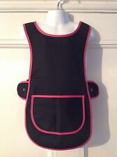 Wholesale Job Lot 10 Brand New Girls Tabard Aprons Black Pink Clothes School