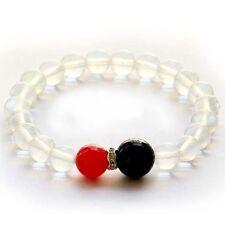 Red Black Agate Man-Made Crystal Quartz Tibet Buddhist Prayer Beads Mala Bracele