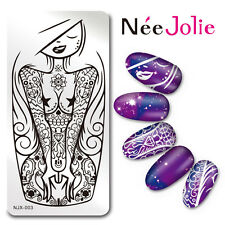 Nail Art Stamping Plate Rectangle Image Template Manicure Ocean Girl NJX-003