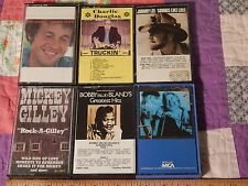 CASSETTE (LOT of 6) Bobby Vinton(NEW) + Bobby Blands + Mickey Gilley + (F. SHIP)