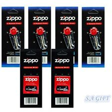 Zippo Replacement Flint Wick of 6 Value Packs (24 Flints and 2 Wicks)
