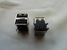 2 USB Connectors PCB Mounting Dual Computer Repair PC (152)