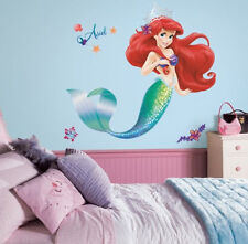 "The LITTLE MERMAID wall sticker MURAL ARIEL 31.5"" tall 21 decals Disney princess"