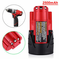 New for Milwaukee M12 48-11-2440 48-11-2401 12V 2.5Ah Li-ion Replacement Battery
