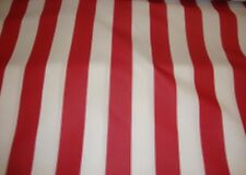 """Upholstery Waterproof Red White Striped Outdoor Canvas fabric Home 60"""" wide"""